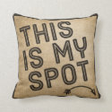 This is my Spot Burlap Throw Pillows