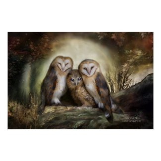 Three Owl Moon Art Poster/Print