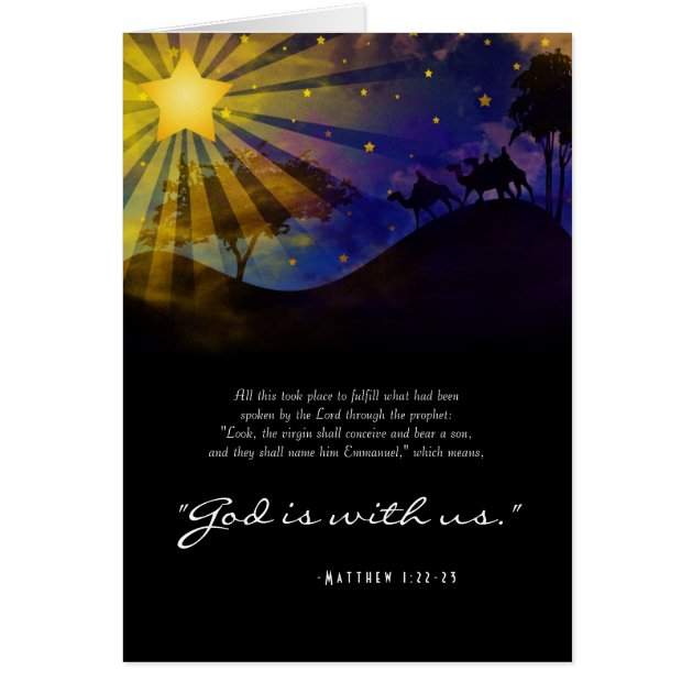 Three Wise Men Bible Verse Christmas Card Zazzle