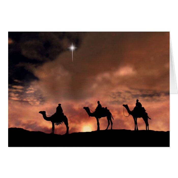 Three Wise Men Christmas Card Zazzle