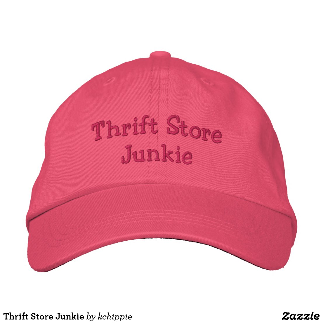 Thrift Store Junkie Embroidered Baseball Cap