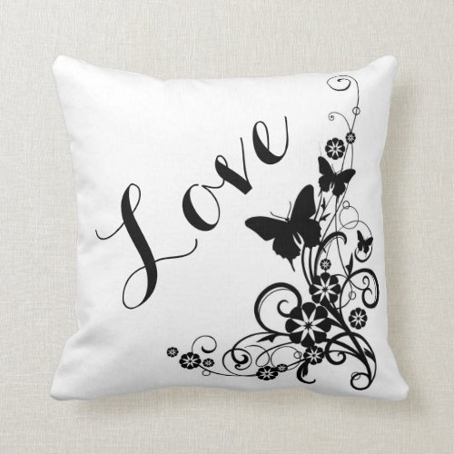 Throw Pillow/Love Throw Pillow