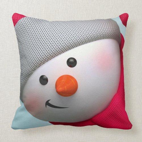 Throw Pillow/Snowman Throw Pillow