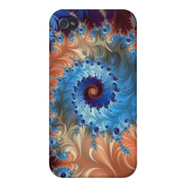 Tie Dye Abstract Swirls - Digital Art Cover For iPhone 4