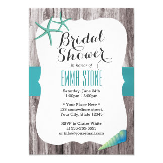 Monogram Tiffany Blue Bridal Shower Invitation