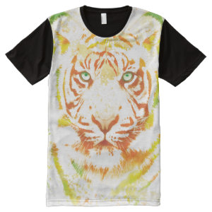 Tiger Art Paint All-Over Print Shirt
