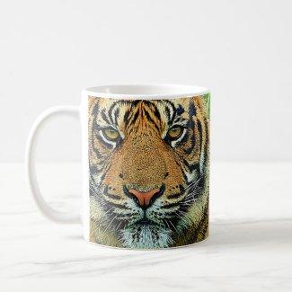 Tiger Graphic Design Coffee Mugs