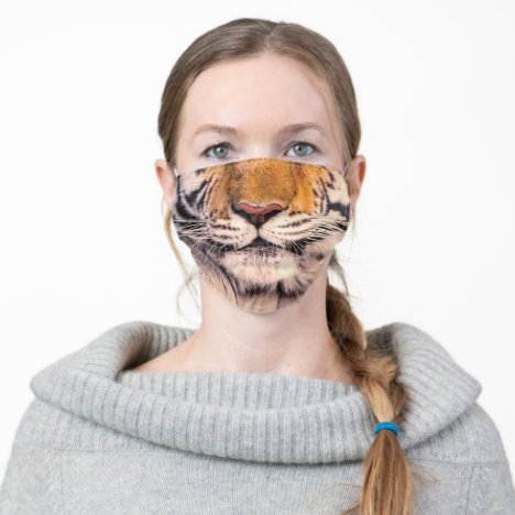 Tiger Nose and Mouth Adult Cloth Face Mask