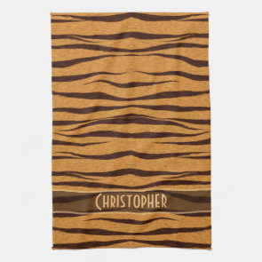 Tiger Stripes Skin Pattern Personalize Hand Towel