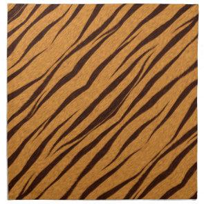 Tiger Stripes Skin Pattern Personalize Printed Napkins