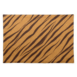 Tiger Stripes Skin Pattern Personalize Place Mats
