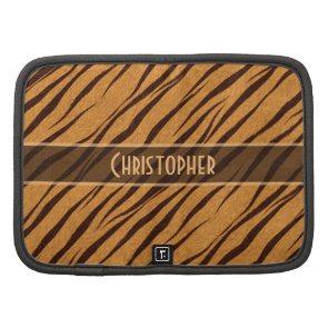 Tiger Stripes Skin Pattern Personalize Folio Planners