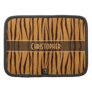 Tiger Stripes Skin Pattern Personalize Folio Planner