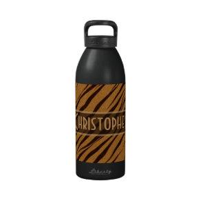 Tiger Stripes Skin Pattern Personalize Drinking Bottles