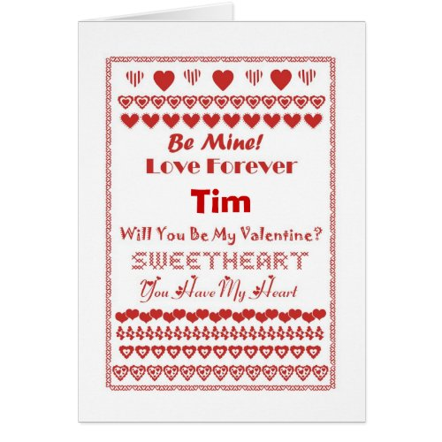 Tim Happy Valentine's Day Hearts Hearts Hearts