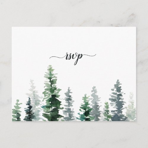 Timber Grove RSVP Postcard with Meal Choice