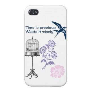 Time is precious, waste it wisely iPhone 4 case