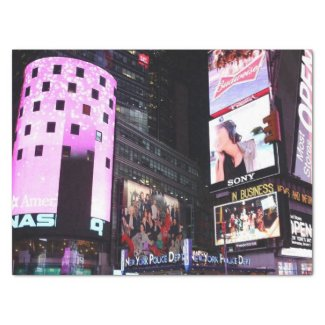 "Times Square in New York City (pink) 15"" X 20"" Tissue Paper"