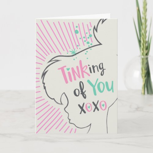 Tinker Bell | Tinking of You Valentine Holiday Card