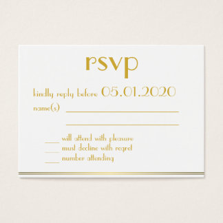 Tiny Monogrammed Great Gatsby Wedding Rsvp Cards