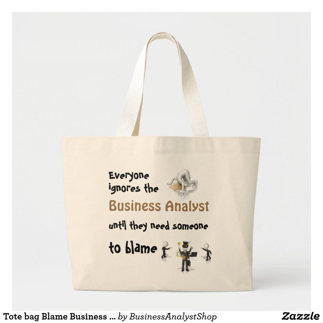 Tote bag Blame Business Analyst