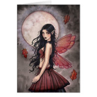 Touch of Autumn Fairy Greeting Card