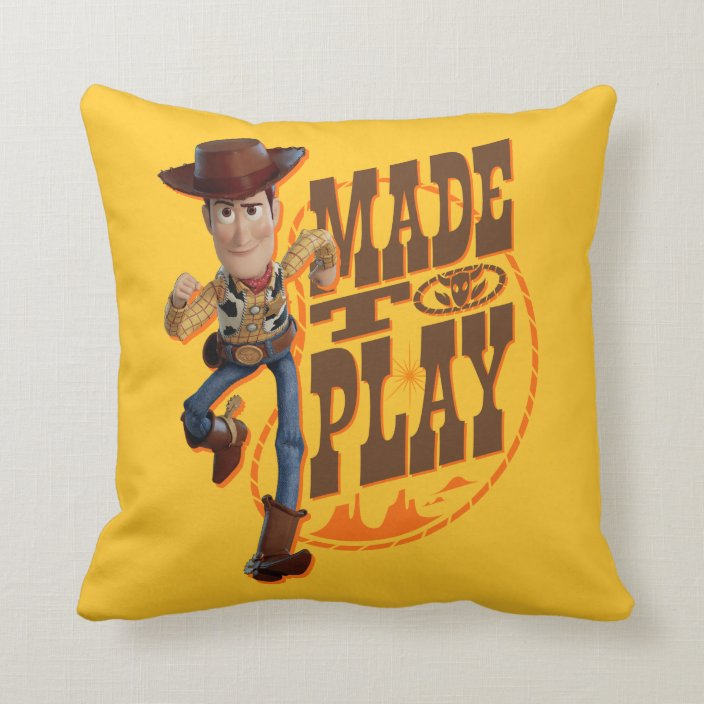 toy story 4 woody made to play throw pillow zazzle com