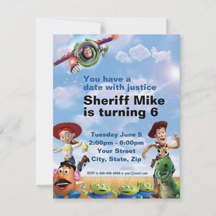 toy story birthday invitation zazzle com