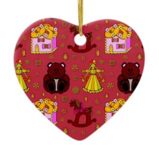 Toys – Golden Dolls & Chocolate Teddy Bears ornament