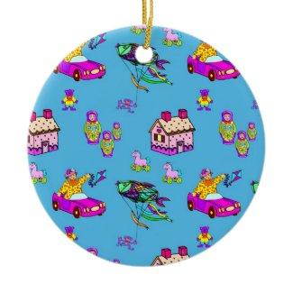 Toys – Pink Dollhouses & Turquoise Kites ornament