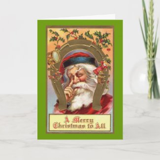 Traditional Santa Claus Greeting Card card