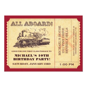 Train Ticket Invitations