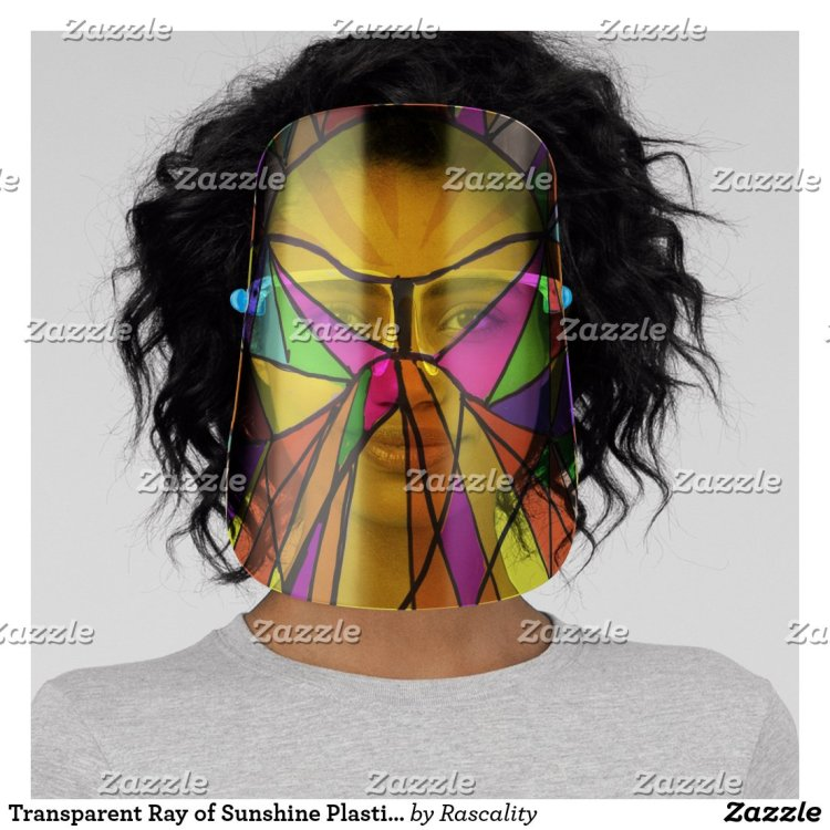 Transparent Ray of Sunshine Sneeze Guard Face Shield