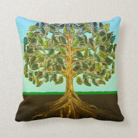 Tree of Life Simple Pleasures of Life Throw Pillow