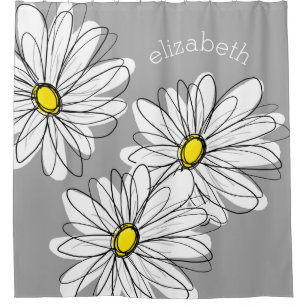 yellow and gray shower curtains zazzle