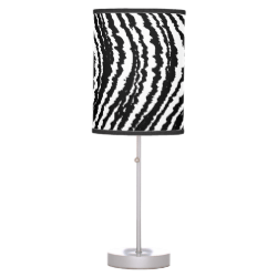 Trendy Stylish Black and White Zebra Stripes Table Lamps