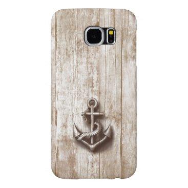 Trendy vintage rustic nautical anchor samsung galaxy s6 case