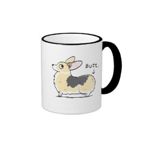 Tri-Color Pembroke Corgi Butt Mug