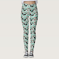 Tri Corgi Valentines - love corgi dog Leggings