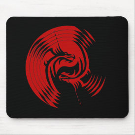 Tribal Dragons Yin Yang (Customizable) Mouse Pad