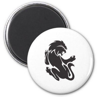 Tribal Lion Tattoo Design Magnets by doonidesigns