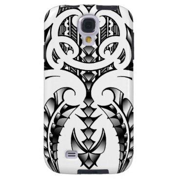 Tribal tattoo design in Maori & Samoan style Galaxy S4 Case