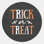Trick or Treat   Halloween Classic Round Sticker