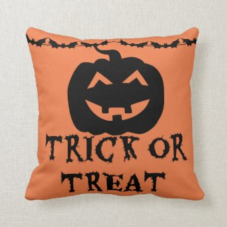 Trick or Treat Pumpkin Throw Pillows