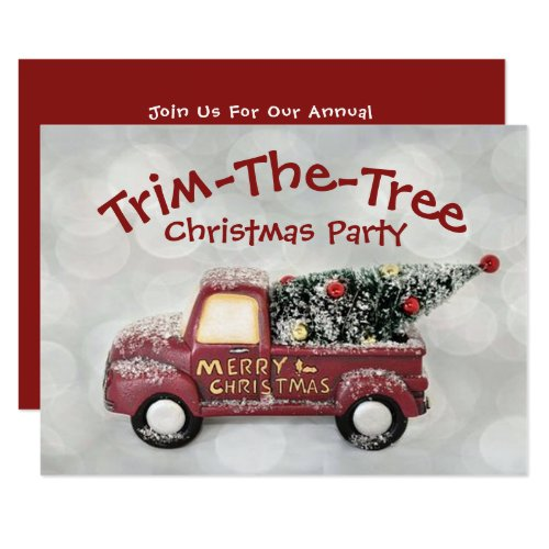 Trim-The-Tree Christmas Party Invitation