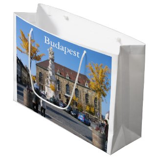 Trinity Square Budapest, in autumn Large Gift Bag
