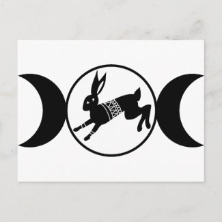 Triple Moon Hare postcard