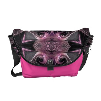 Trippy Fractal Art Messenger Bags