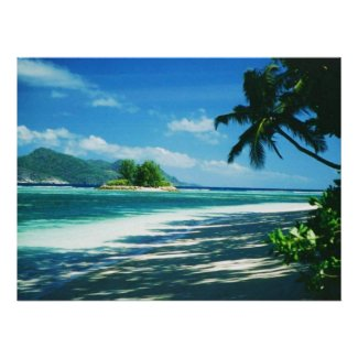 Tropical Beach Print poster