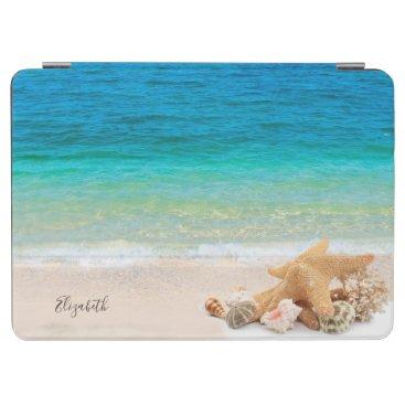 Tropical Beach,Seashells-Personalized iPad Air Cover